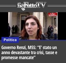 M5S su Governo Renzi