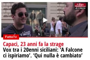 Vox su Falcone a Catania