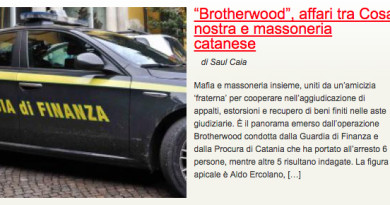 """Brotherwood"", affari tra Cosa nostra e massoneria catanese"