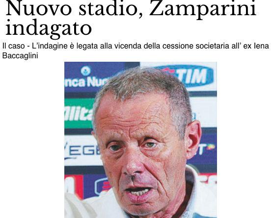 Nuovo stadio, Zamparini indagato