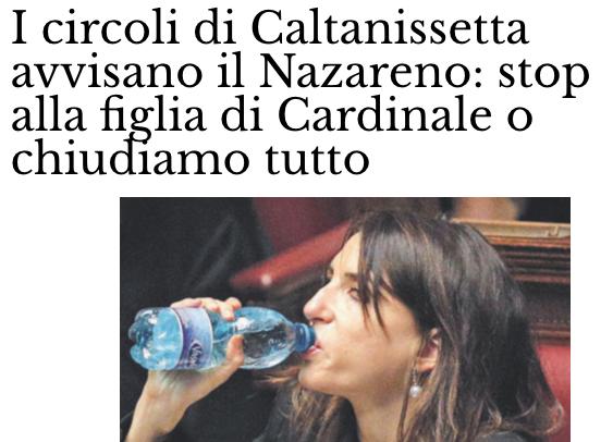 """PD Caltanissetta: """"La figlia di Cardinale non ci rappresenta"""""""